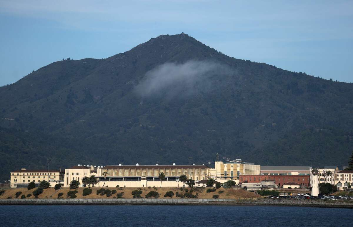 An exterior view of San Quentin State Prison on June 21, 2020 in San Quentin, California. San Quentin State Prison is experiencing an outbreak of coronavirus COVID-19 cases.