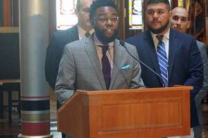 State Rep. Brandon McGee, D-Hartford, chairman of the Black and Puerto Rican Caucus