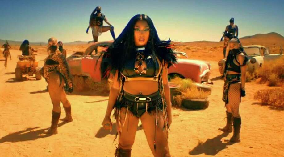 """Megan Thee Stallion's performance was inspired by the """"Mad Max"""" movies. Photo: Associated Press / BET"""