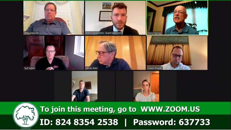 The Midland Planning Commission met virtually for its regular meeting on Tuesday, June 23. (Screen photo)