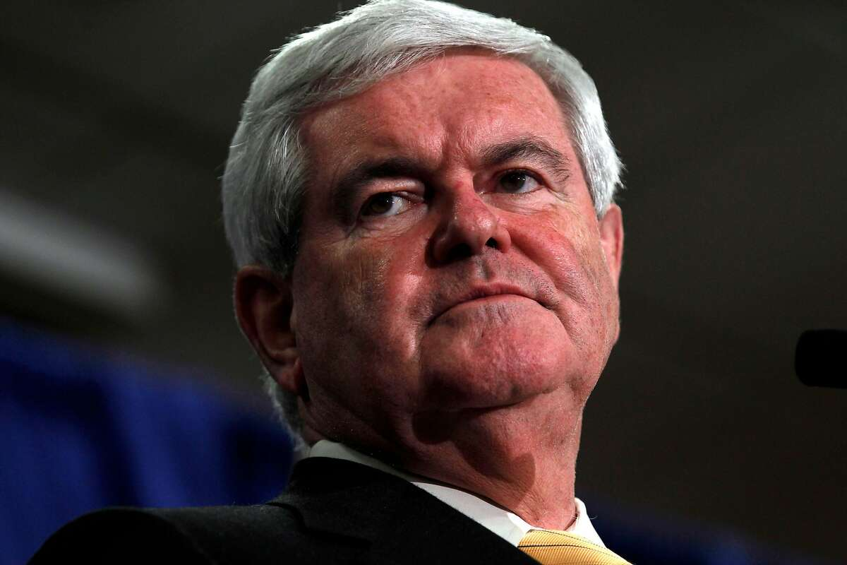 Former Republican presidential candidate and former House Speaker Newt Gingrich speaks during a campaign stop Jan. 30, 2012, in Orlando, Fla.