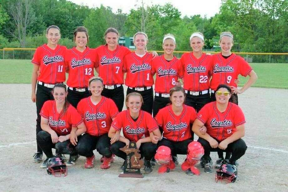 The 2012 Reed City Coyotes softball team was crowned both District and Regional Champions with a 29-10 overall record. (Courtesy photo)