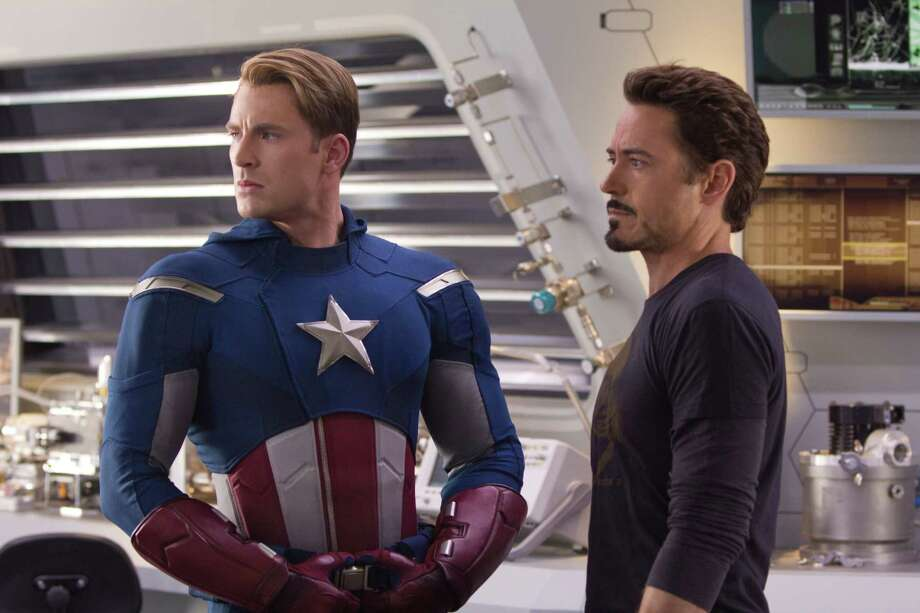 "Zade Rosenthal/Marvel ""Marvel's The Avengers"" (L to R) CAPTAIN AMERICA (Chris Evans) and TONY STARK (Robert Downey Jr.) Photo: Photo Credit: Zade Rosenthal"
