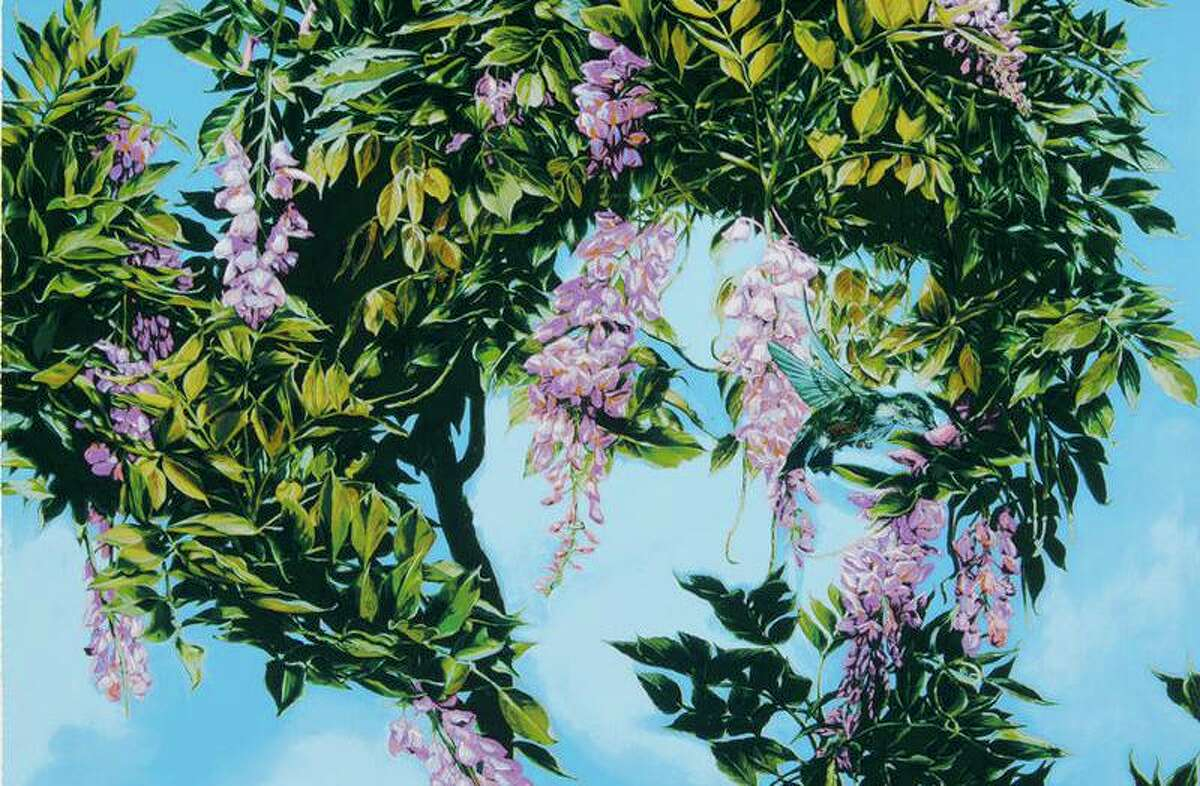 """""""Wisteria"""" by Eric Montoya is an example of surrealsim in the collection of the McNay Art Museum."""