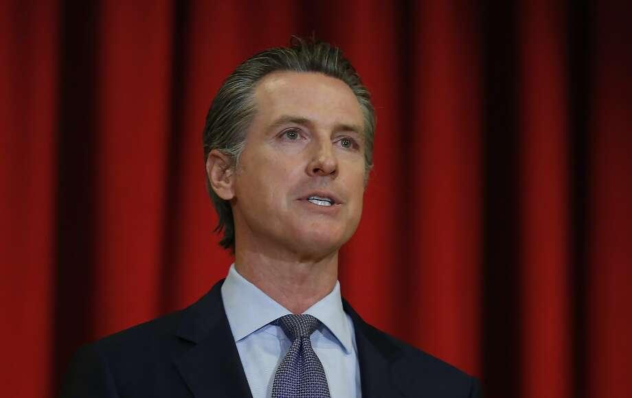 Gov. Gavin Newsom in a news conference in Sacramento on June 1. Photo: Rich Pedroncelli / Associated Press