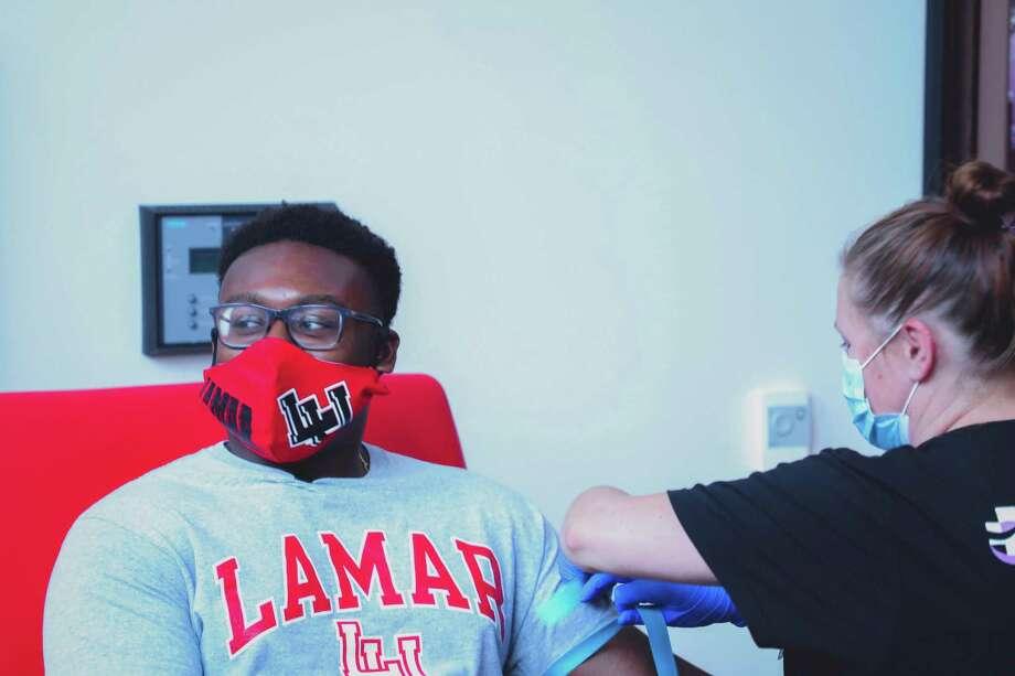 Lamar football players reporting to the Dauphin Athletic Complex Monday were met with a heavy set of coronavirus protocols. Photo: Jon Washington, Lamar University Athletics