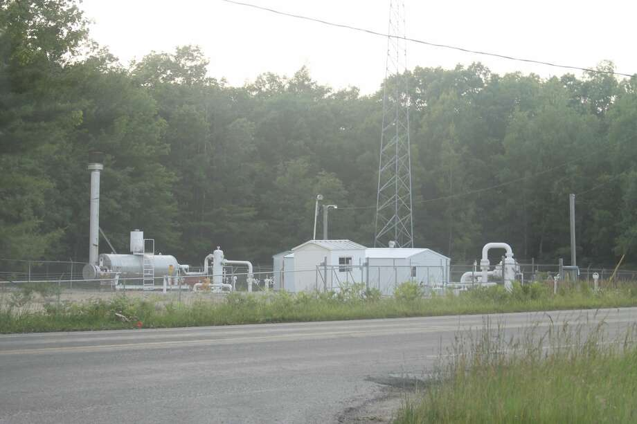 The gas relief valve blew around 7:20 p.m. on June 29 at DTE's Manistee Gate Station on Maple Road near Canfield Road in Filer Township. Photo: Michelle Graves/News Advocate