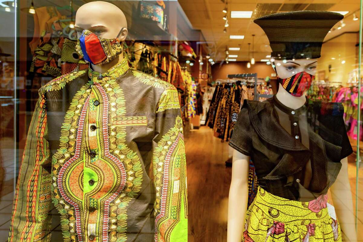 Even these fashion-conscious mannequins are wearing their masks at one of the stores in the Parkdale Mall. More people appear to be wearing masks when out in places of business. Photo made on June 28, 2020. Fran Ruchalski/The Enterprise