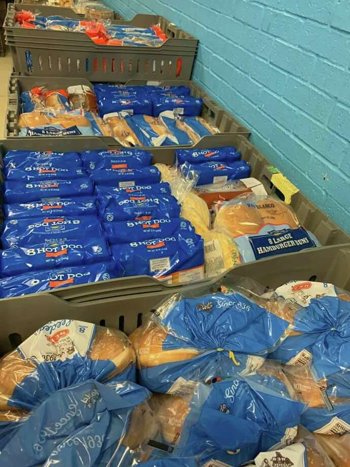 A past donation of bread from the South Texas Food Bank to El Cenizo Community Center is pictured last January. Photo: Courtesy Of El Cenizo Community Center