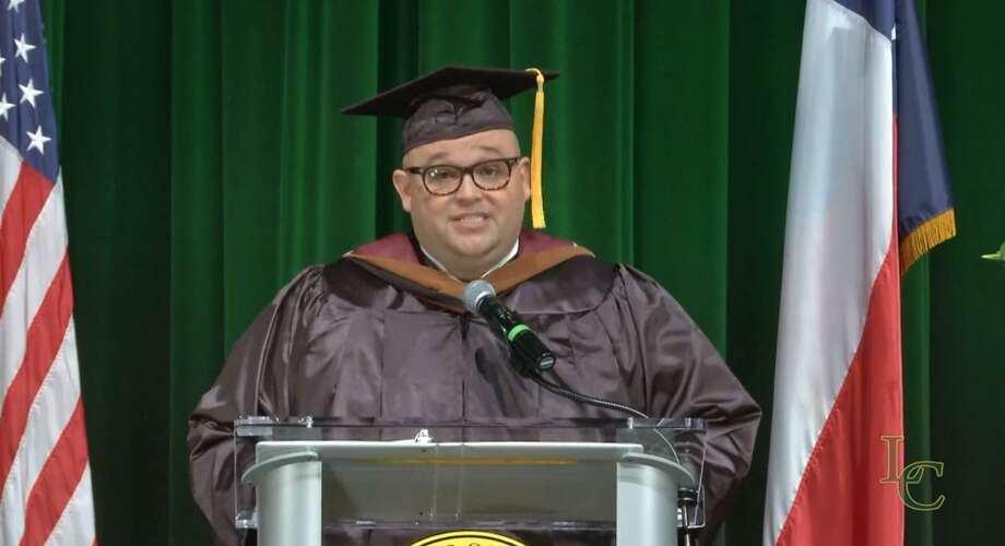 Director of External Initiatives Michael Gonzalez introduces the 2020 Laredo College Virtual Commencement Ceremony. Photo: Courtesy Of LC