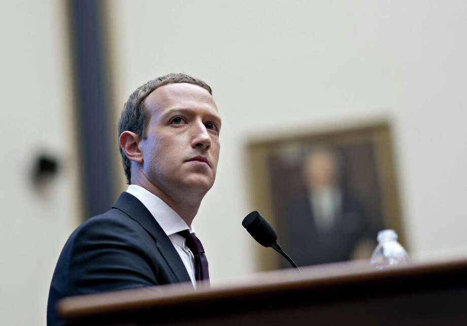 Mark Zuckerberg, chief executive officer and founder of Facebook Inc., listens during a House Financial Services Committee hearing in Washington, D.C., on Oct. 23, 2019. Photo: Bloomberg Photo By Andrew Harrer / Bloomberg