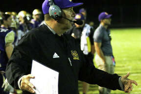 CM coach Mike Parmentier is the 2019 Telegraph Large-Schools Football Coach of the Year after leading the Eagles to a 7-3 record and their first MVC championship since 2010.