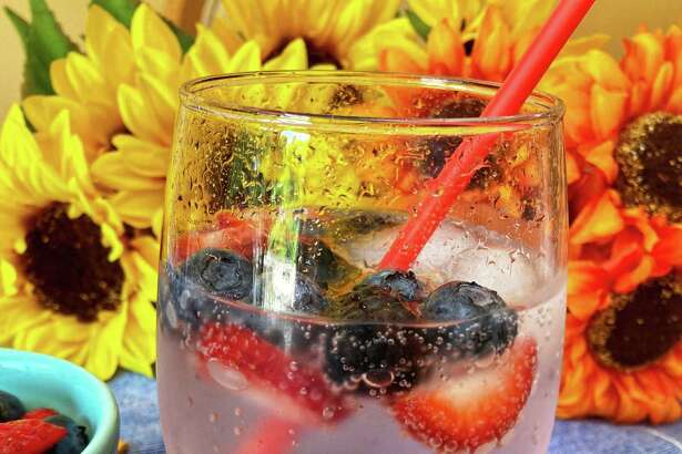 This berry spritz will keep you cool all summer long.