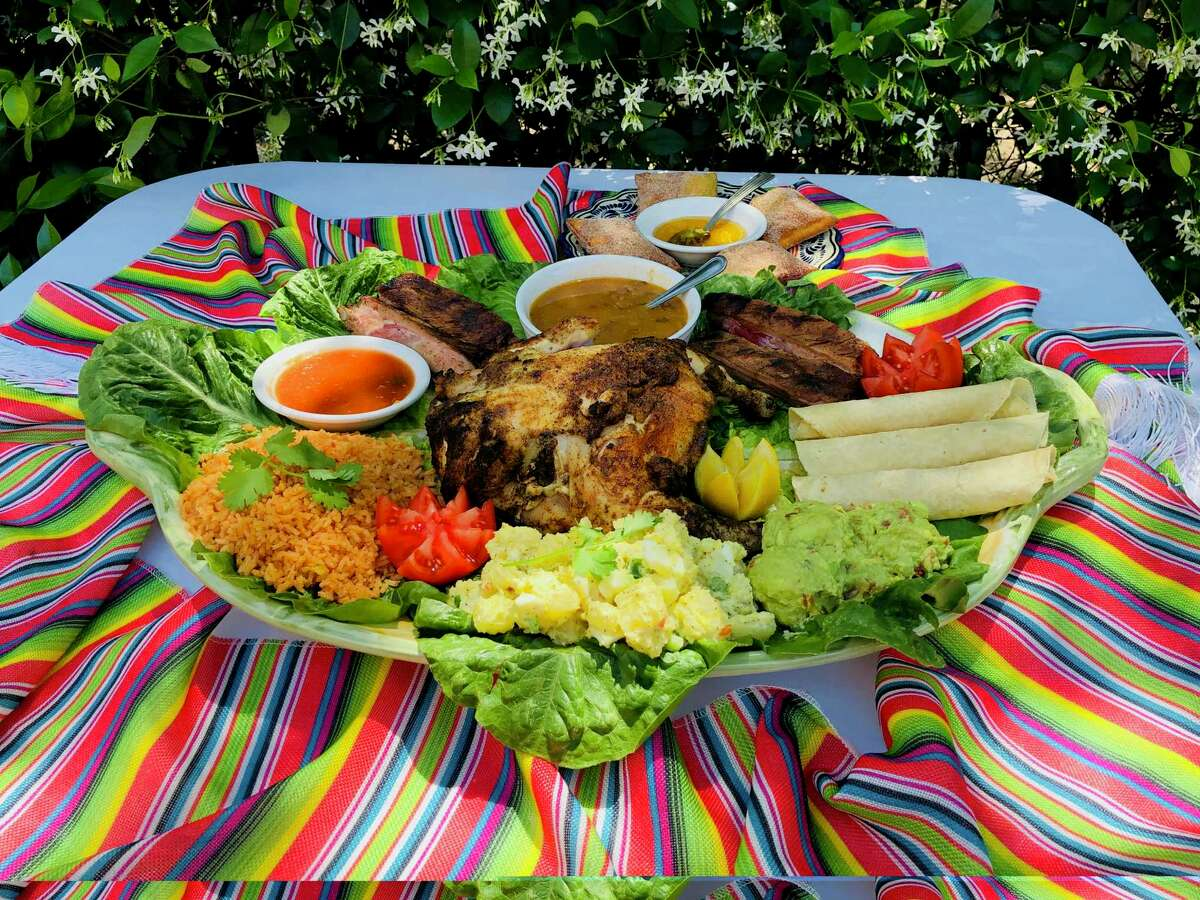 Sylvia's Enchilada Kitchen restaurants has Fourth of July-inspired picnic packs (in two sizes) that includes grilled chicken, babyback ribs, potato salad and other fixings.