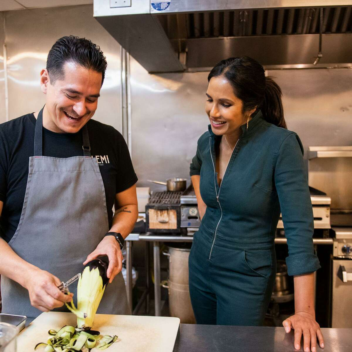 """Hulu's new series """"Taste the Nation with Padma Lakshmi"""" looks at the cultures behind American food."""
