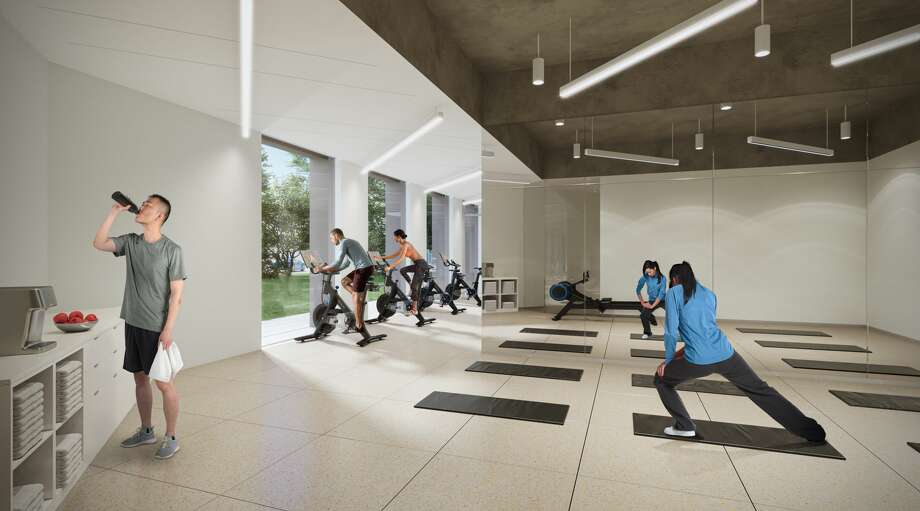 Conceptual renderings show Allen Center's newest tenant amenities. Photo: Courtesy Of Brookfield Properties