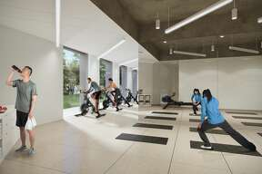 Conceptual renderings show Allen Center's newest tenant amenities.