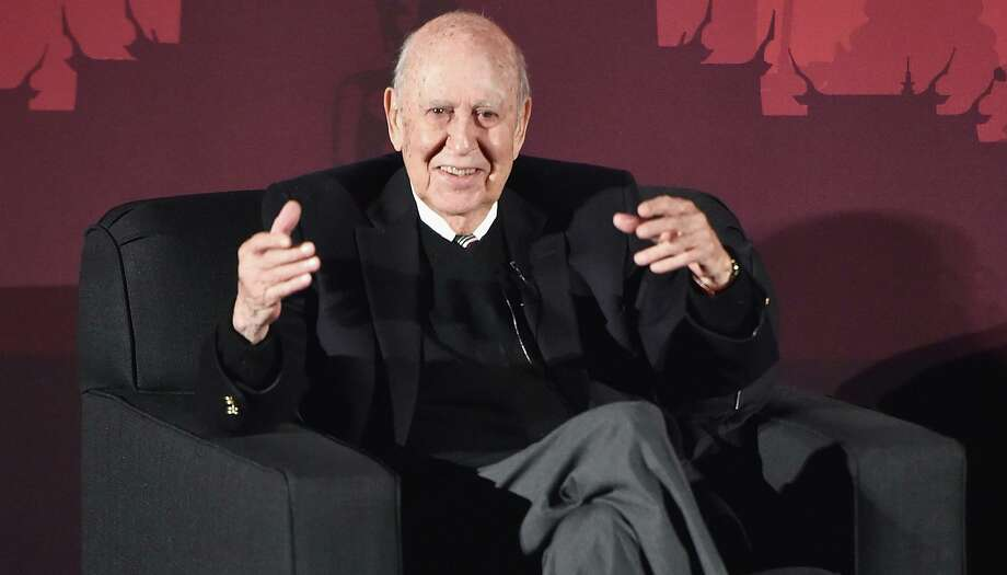 "Actor Carl Reiner speaks onstage during ""An Afternoon with Carl Reiner - Dead Men Don't Wear Plaid"" during day three of the TCM Classic Film Festival 2016 on April 30, 2016 in Los Angeles. Reiner died Monday, June 29, 2020 at 98. (Alberto E. Rodriguez/Getty Images for Turner/TNS) Photo: Alberto E. Rodriguez, HO / TNS / Getty Images North America"