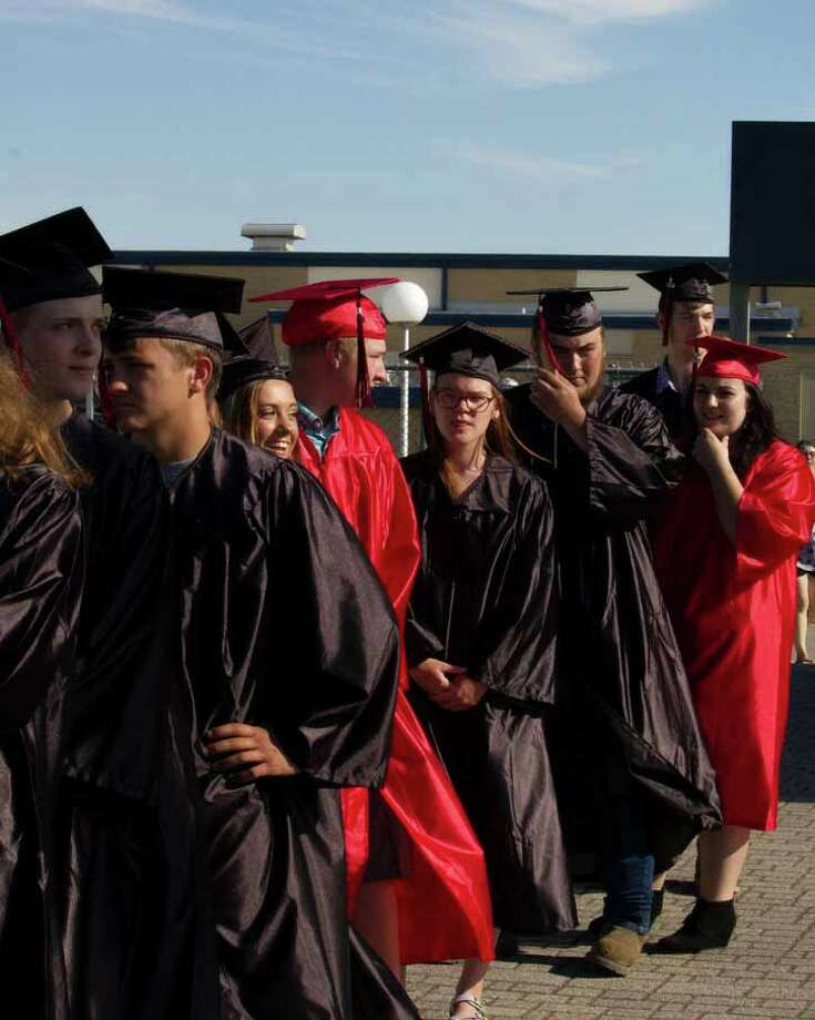 The Ascent High School graduation June 30 on the football field. Photo: Aurora Abraham/Huron Daily Tribune