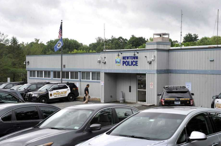 Police headquarters at 3 Main Street in Newtown, Conn. Photo: Carol Kaliff