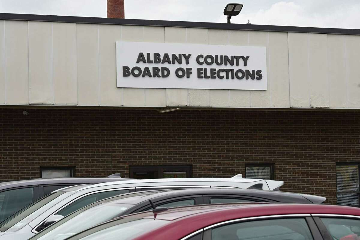 Exterior of Albany County Board of Elections where ballot counting has begun in the Albany County District Attorney's race between David Soares and Matthew Toporowski on Tuesday, June 30, 2020 in Albany, N.Y. (Lori Van Buren/Times Union)