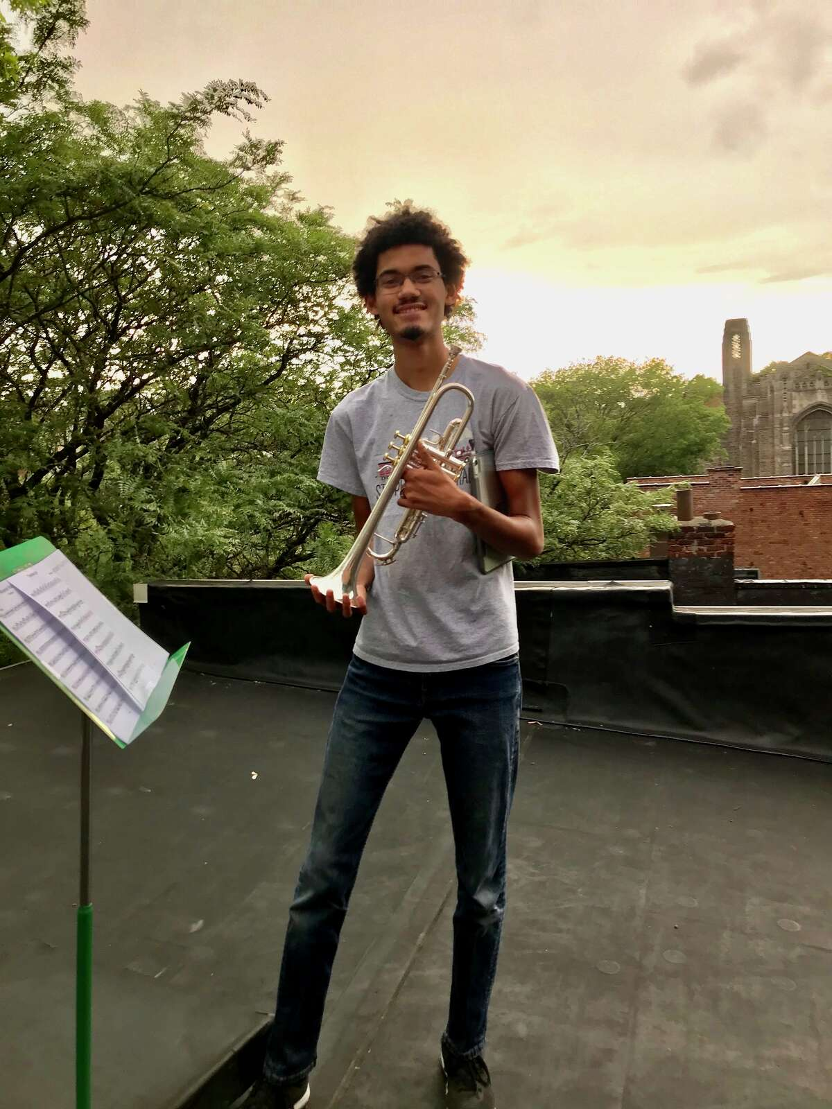 Themba Pieterse, 17, who graduated from Albany HS on Saturday, has been accepted into the trumpet performance program at the prestigious Schulich School of Music at McGill University in Montreal in the fall and his dream is to become a professional trumpet player in an orchestra.