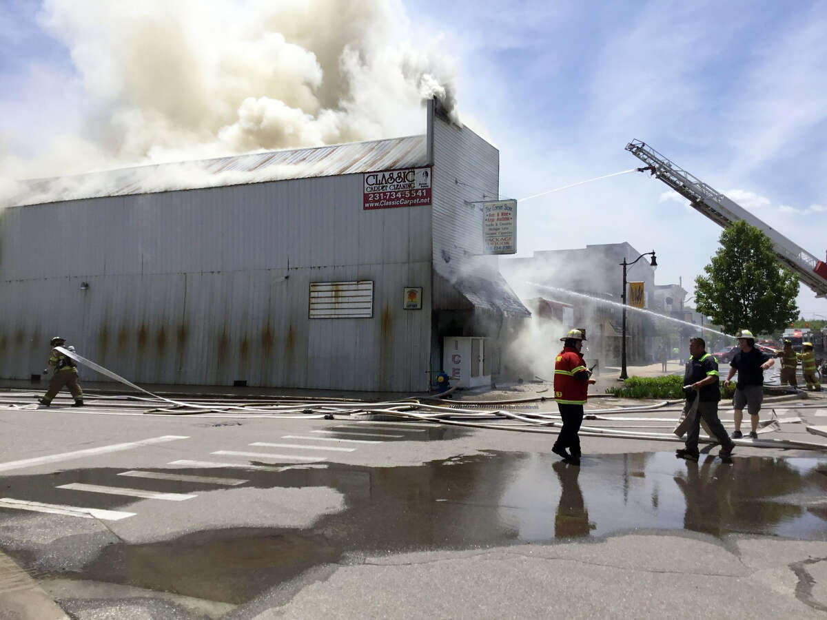 On Wednesday, June 3, 2020, a fire was reported at The Corner Store in Evart. There was one employee inside when the blaze started and began to spread through the building, but she was able to safely exit the building. The historic building was a total loss.