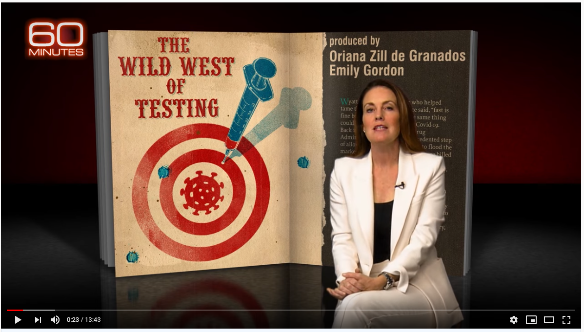 Laredo featured as part of 60 Minutes investigation into faulty coronavirus tests