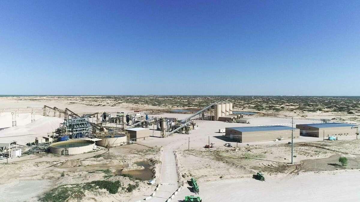 A Covia plant in April 2020 outside Kermit, Texas.