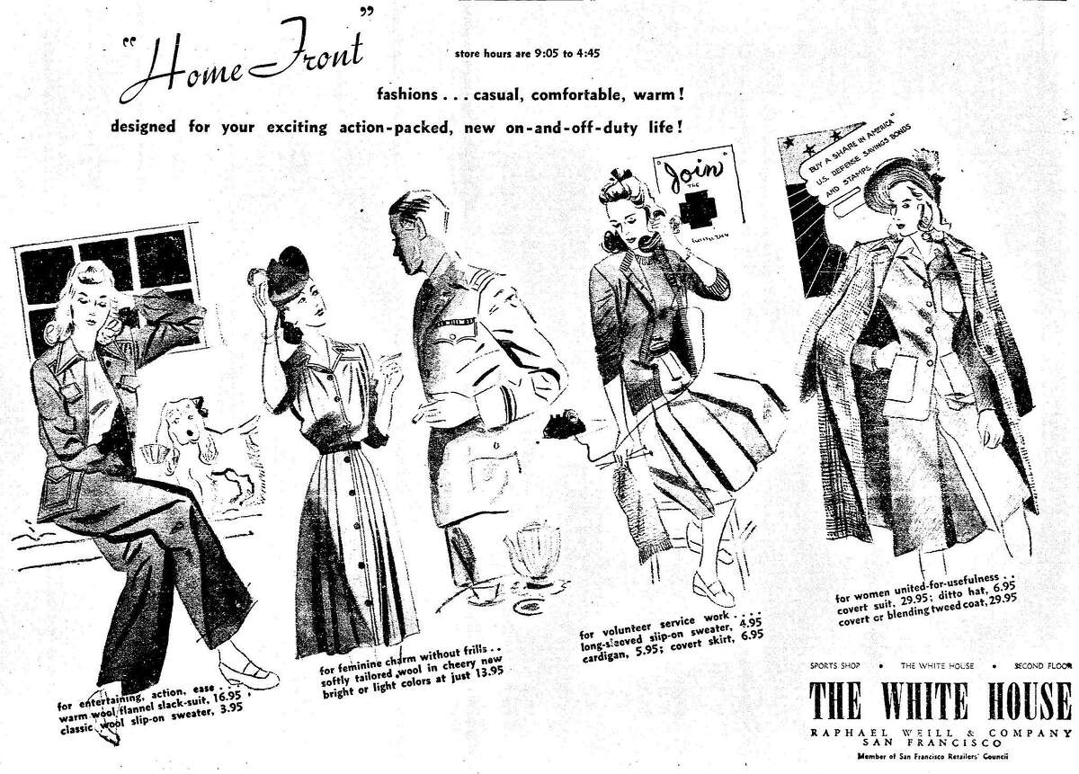 Ads of the 1940s. Chronicle display advertisement for the White House Department Store, January 12, 1942