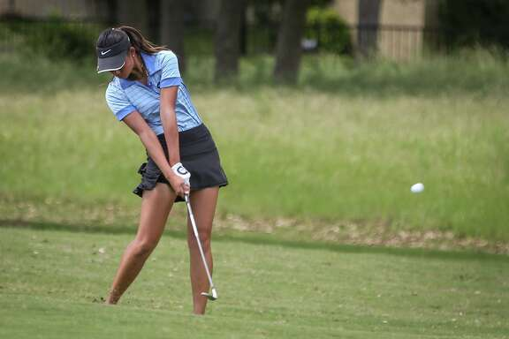 Fort Bend Clements' Kelly Yang hits the ball down the towards the green during the UIL State Golf Championships, April 27 at Legacy Hills Golf Club in Georgetown. To view more photos from the tournament, go to HCNPics.com.