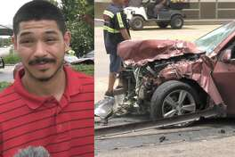 Jason Gomez had harsh words for the juveniles who carjacked his wife and crashed it during a high-speed police chase in Houston on Tuesday, June 30, 2020.
