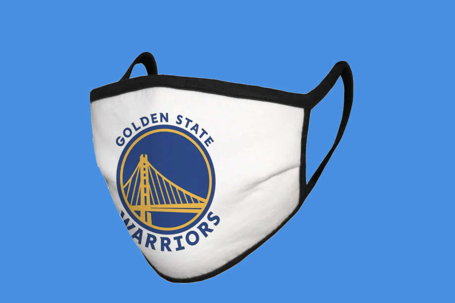 Fanatics is selling a bunch of different Golden State Warriors masks, including this one that's 100% cotton and made in the USA. Photo: Fanatics/Hearst Newspapers