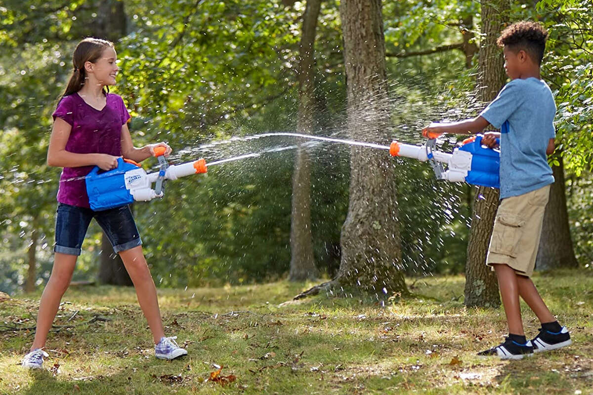 Nerf Super Soaker Soakzook, $16.89 With a huge reservoir of water (55 fluid ounces) and the extra leverage afforded by its pump-handle, the