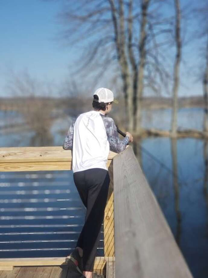 Eli Lietart fishing at Arcadia Marsh boardwalk. Most Scenic catagory. (Courtesy Photo/Frankfort-Elberta Chamber of Commerce) Photo: (Courtesy Photo/Frankfort-Elberta Chamber Of Commerce