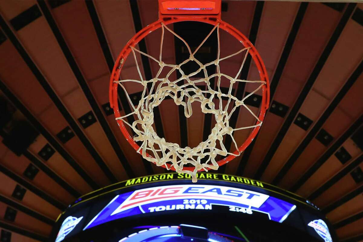 NEW YORK, NY - MARCH 16: A General View of the Big East Tournament Logo on the scoreboard through the net prior to the Big East Conference Championship college basketball game between the Villanova Wildcats and the Seton Hall Pirates on March 16, 2019 at Madison Square Garden in New York, NY. (Photo by Rich Graessle/Icon Sportswire via Getty Images)