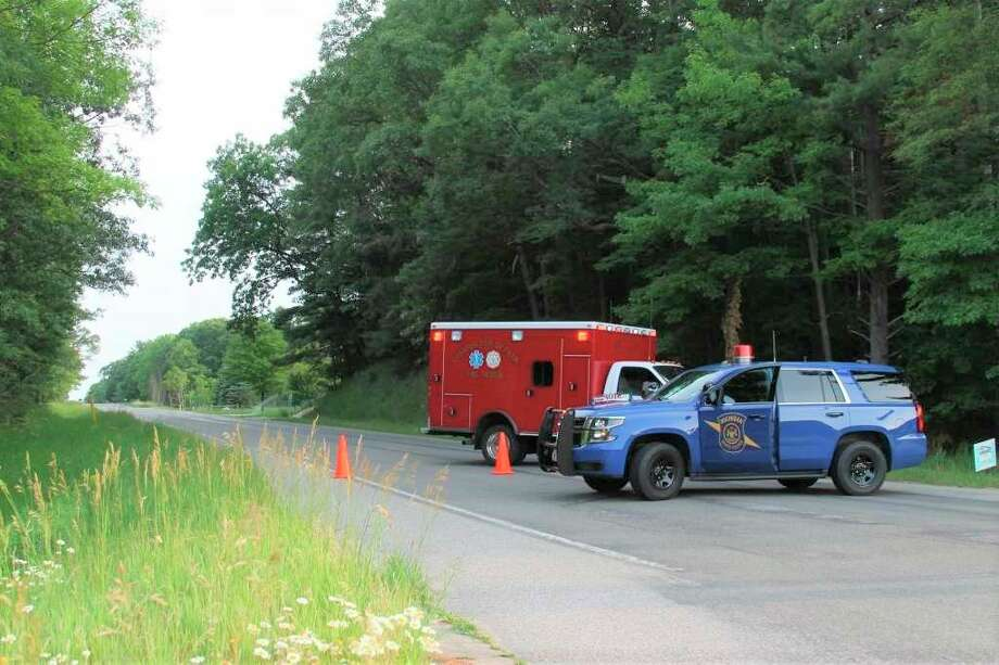 The Michigan State Police and Filer Township helped divert traffic at Maple and Red Apple roads on June 29 after the gas relief valve blew at DTE's Manistee Gate Station on Maple Road in Filer Townshp. (Michelle Graves/News Advocate)