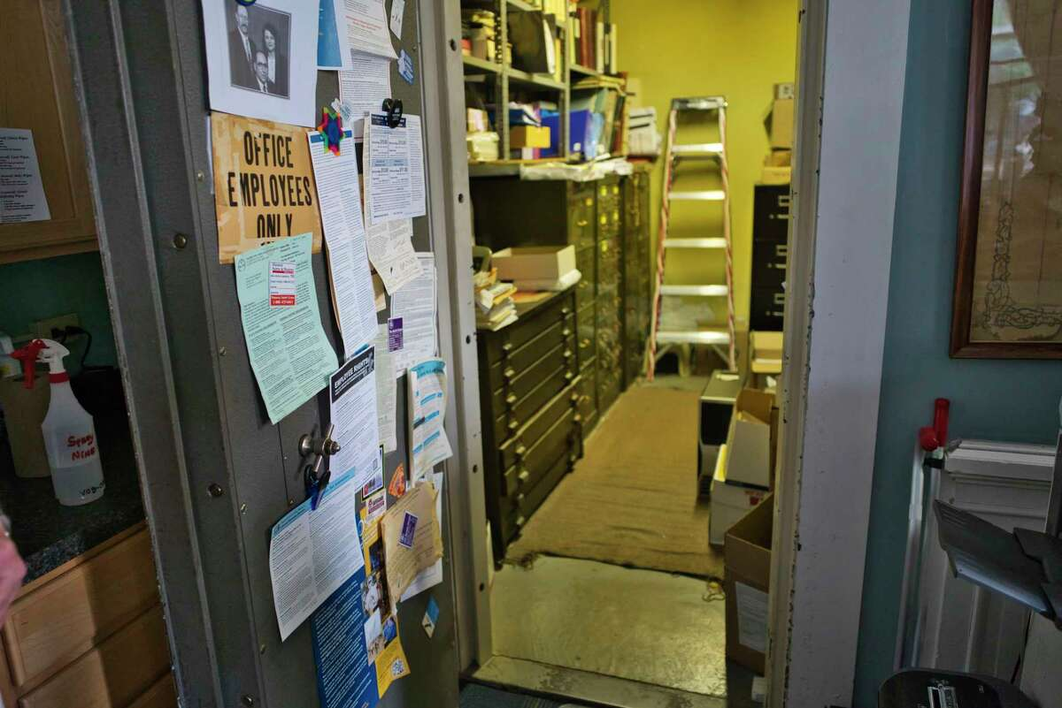 A view of bank vault at the Ballston Spa Village Hall on Monday, June 29, 2020, in Ballston Spa, N.Y. The building was originally a bank. (Paul Buckowski/Times Union)