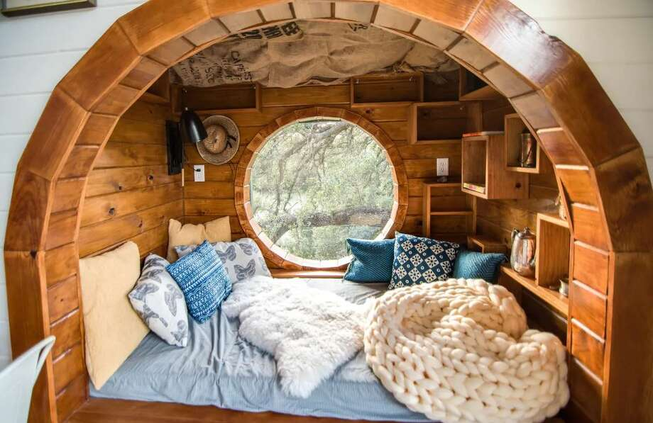 A Hill Country jewel, the town of Fredericksburg has been crowned as one of the top 10 trending spots in the U.S. for a holiday getaway, according to an Airbnb survey. Photo: Live Oak Treehouse/Airbnb