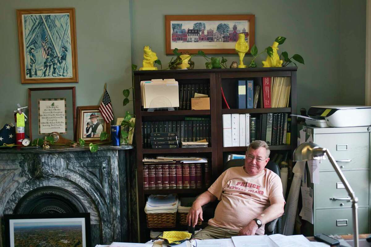 Village of Ballston Spa Mayor Larry Woolbright in his office at village hall on Monday, June 29, 2020, in Ballston Spa, N.Y. (Paul Buckowski/Times Union)