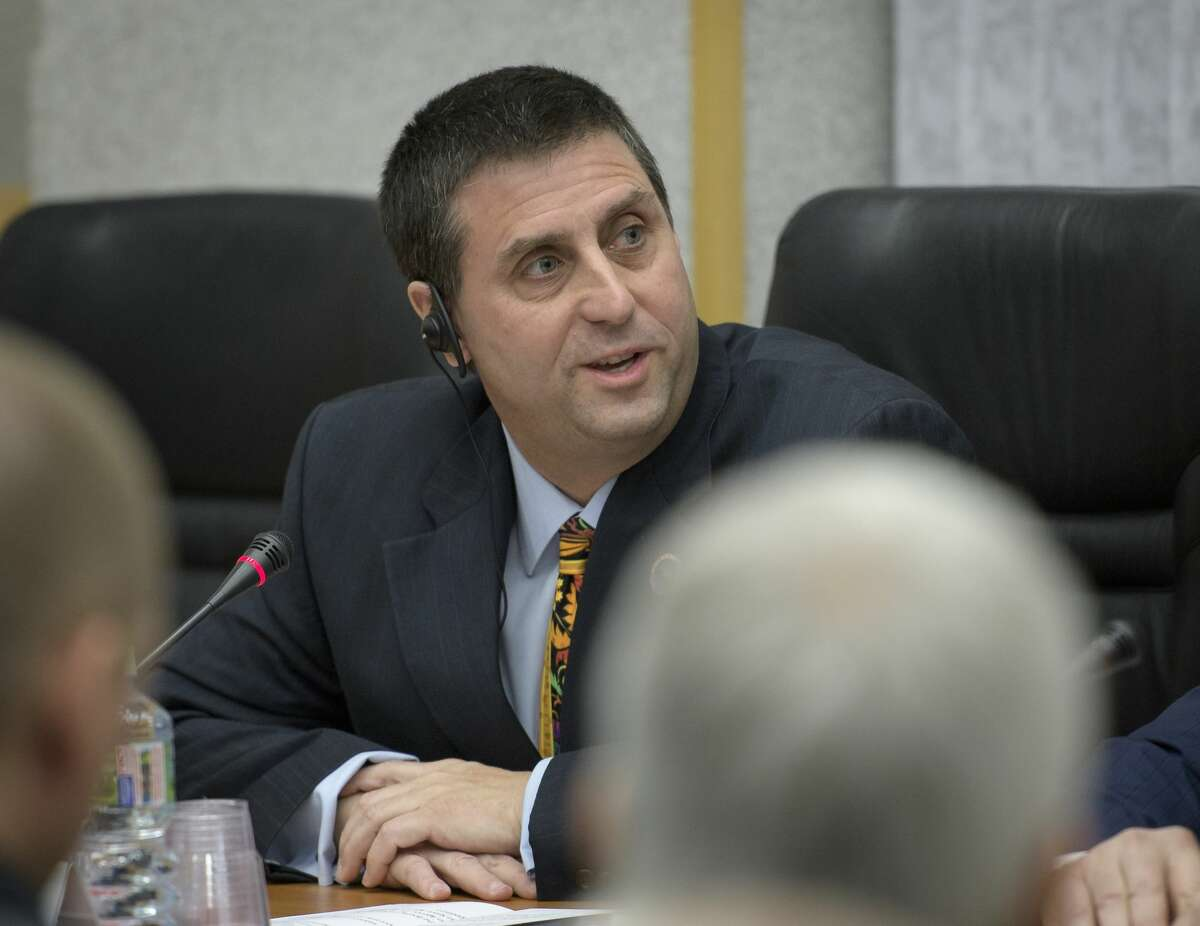 Joel Montalbano is the new program manager for NASA's International Space Station Program. In this picture, when he was the deputy program manager,Montalbano delivers remarks during the State Commission meeting to approve the Expedition 59 crew's Soyuz launch to the International Space Station, Wednesday, March 13, 2019 at the Cosmonaut Hotel in Baikonur, Kazakhstan.
