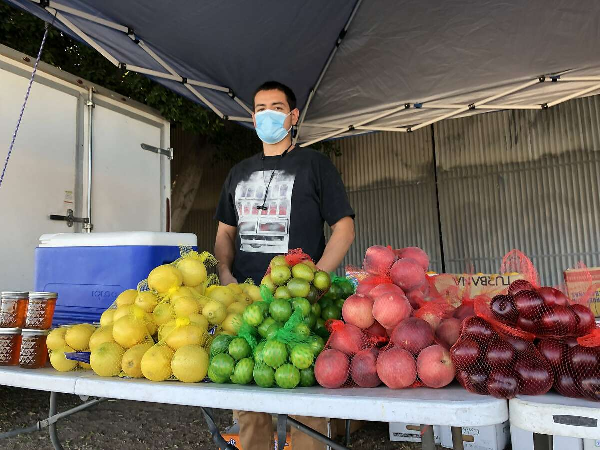 Pablo Perez, who operates a produce stand in Imperial County, said he worries many people in the county �are not listening� to public-health orders to wear a mask. �A lot of people just don�t believe what they can�t see,� he said.