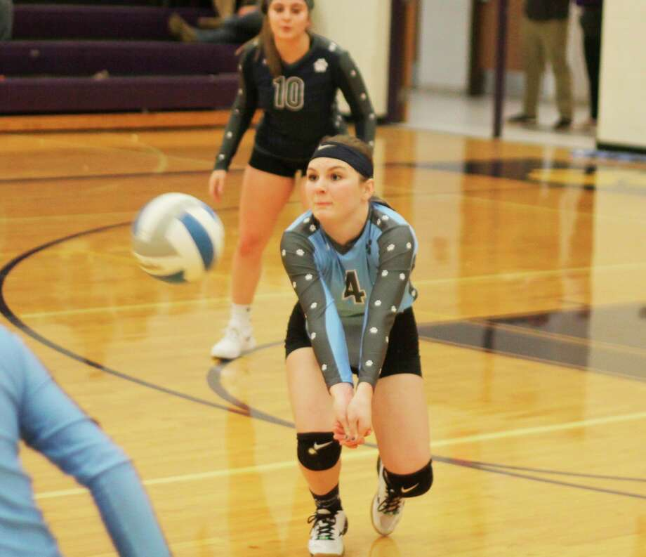 Brethren's Kaia Richardson records a dig. Gov. Whitmer's plans for athletics in the fall emphasizes cleaning and disinfecting equipment and limiting the number of spectators allowed at events. (News Advocate file photo)