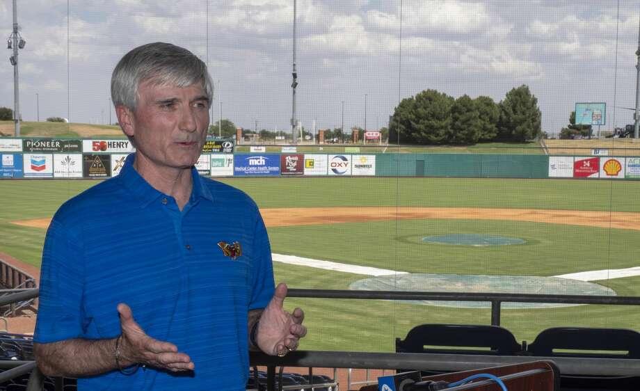 Monte Hoppel, General Manager for Midland RockHounds, officially announces 06/30/2020 the cancelation of the 2020 baseball season at Momentum Bank Ballpark. Tim Fischer/Reporter-Telegram Photo: Tim Fischer/Midland Reporter-Telegram