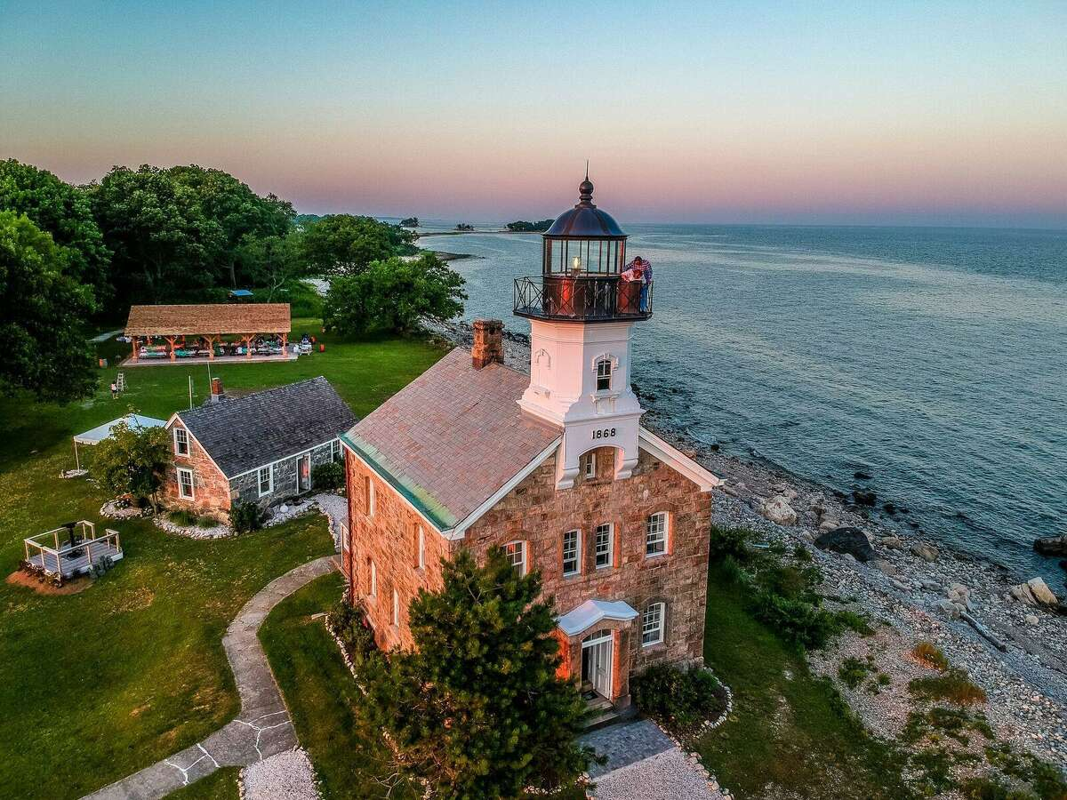 The Seaport Association invites you to take a scenic Norwalk Harbor cruise. Among the sights you'll enjoy are three lighthouses, including the Sheffield Island Lighthouse, seen here.