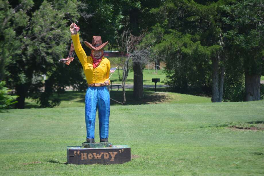 The waving cowboy at Lloyd Woods Park has been taken down. Photo: Herald Archive Photo