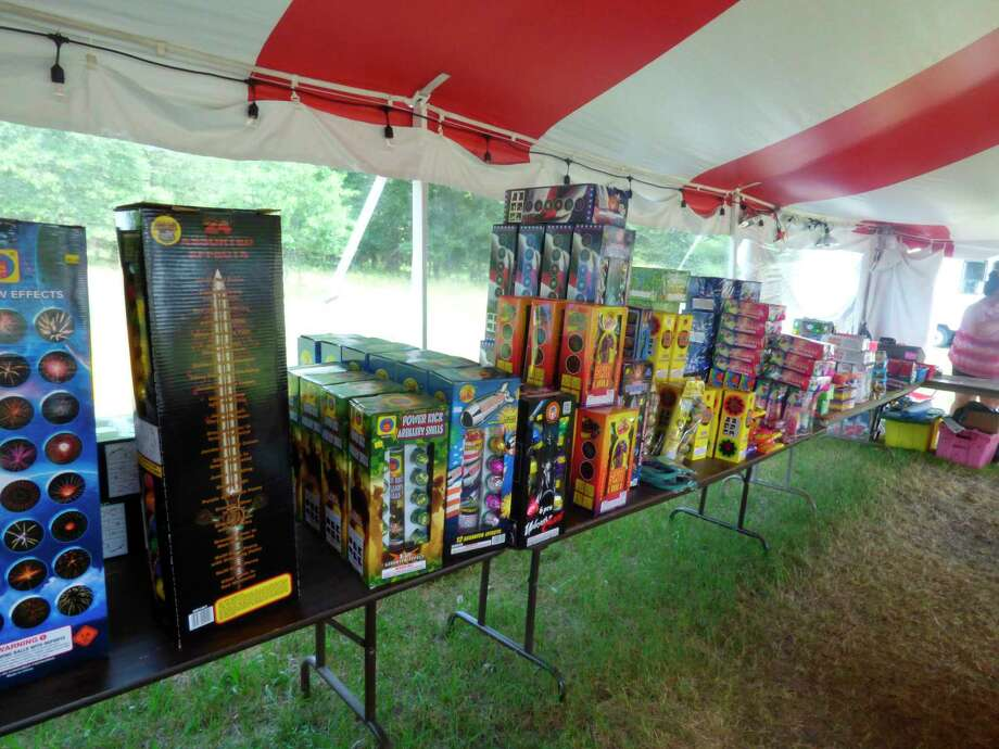 Fireworks are sold at a roadside stand in Manistee. (File photo)
