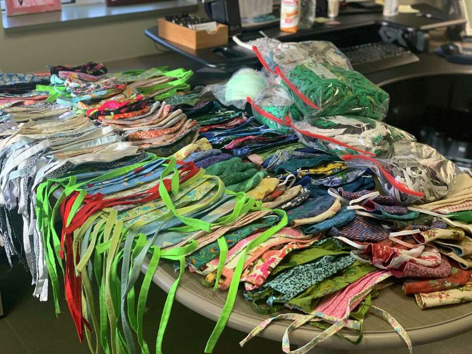 Home made masks were collected and shipped to where they were needed by Benzie Bus. (Courtesy Photo)
