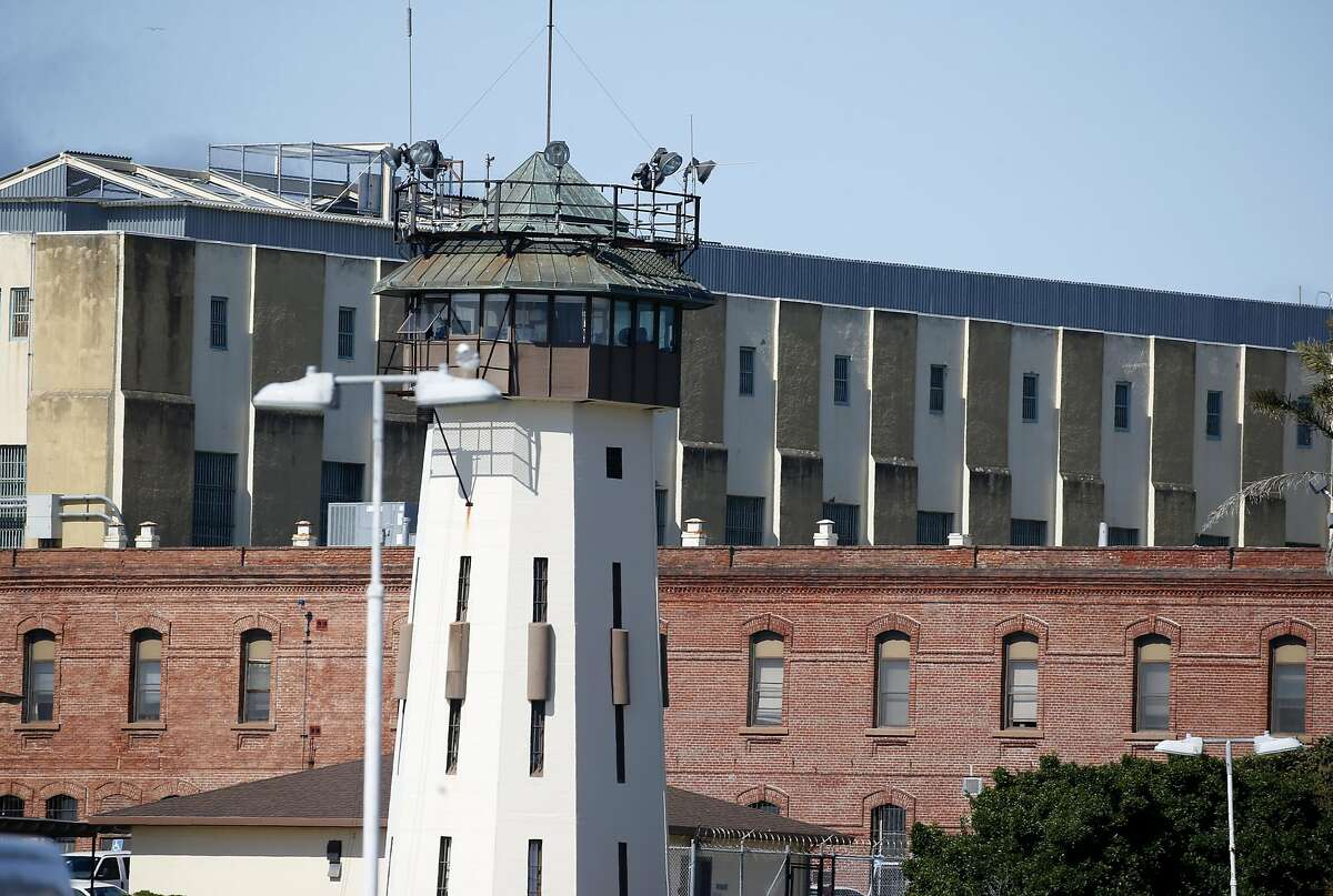A guard tower is seen at San Quentin State Prison on Thursday, June 25, 2020.