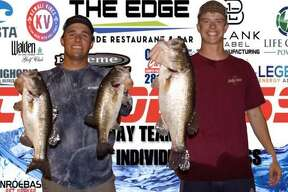 Zac Pickle and Connor Whisenant won the CONROEBASS Tuesday night tournament with a stringer weight of 13.21 pounds.